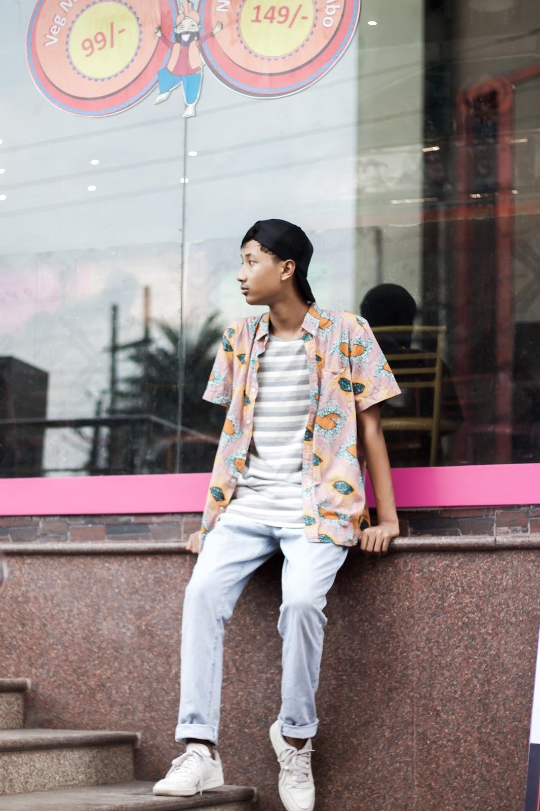 Koovs T-shirt, The Quirky Minimal, CK Jeans, Puma sneakers