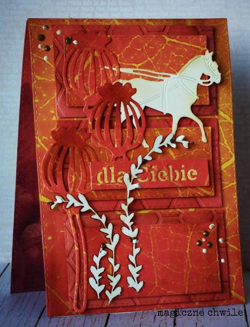 kartka w jesiennych kolorach