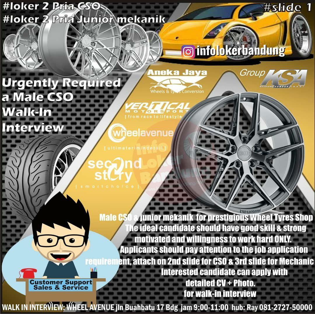 Lowongan Kerja Wheel Avenue Bandung Agustus 2019