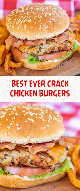 BEST EVER CRACK CHICKEN BURGERS
