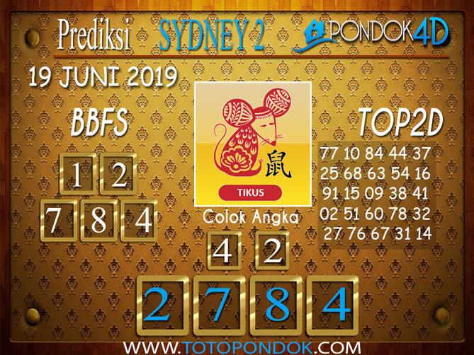 Prediksi Togel SYDNEY 2 PONDOK4D 19 JUNI 2019