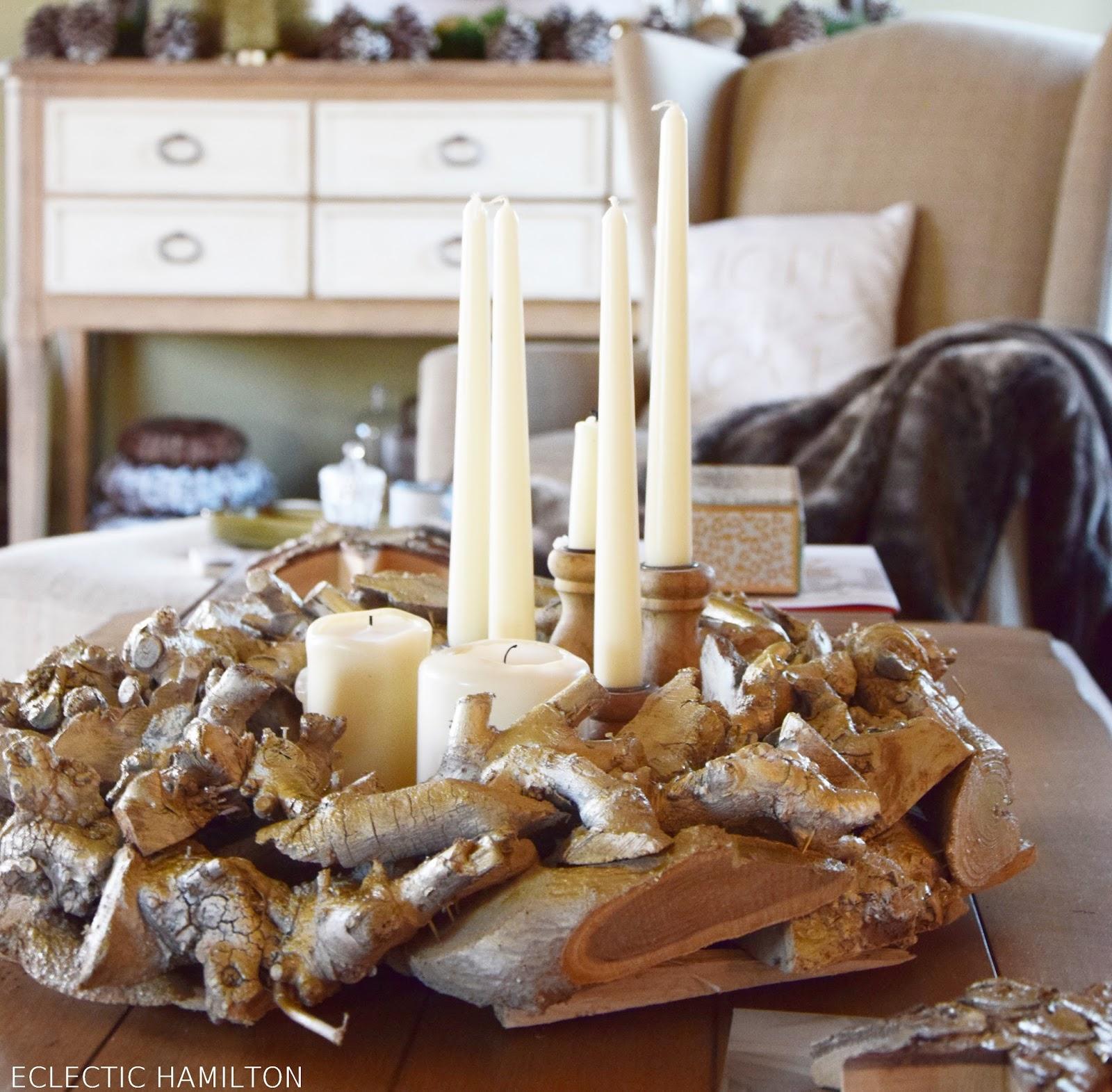 Von Naturkranz zu edler Deko: DIY. Selbstgemacht, Weihnachten, Kranz, Kränze, Weihnachtskränze, Holzkranz, Deko, Dekoration, Farbe, Silber, Gold, Farbspray,
