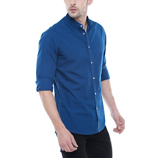 navy blue shirt for men's