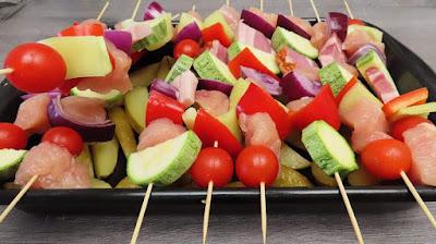Ideja za Ručak - Ražnjići od Piletine i Povrća u Pećnici | Oven Baked Chicken & Veggie Skewers