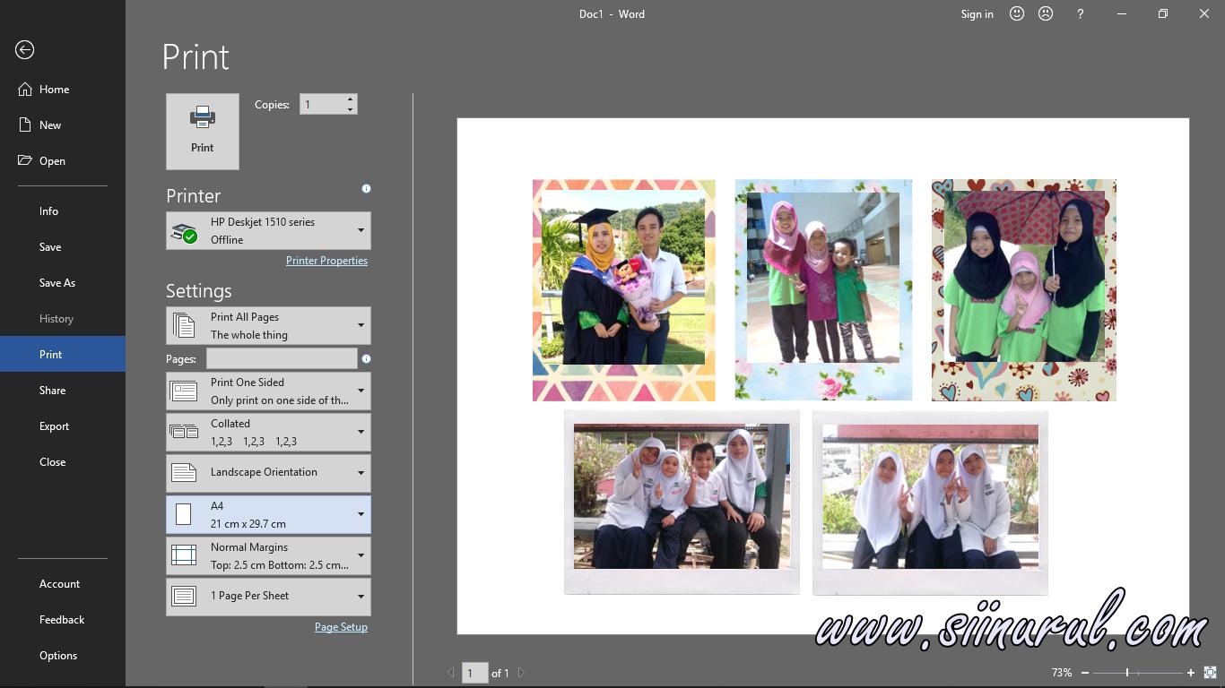 Cara Print Gambar Polaroid Sii Nurul Menulis Untuk Berkongsi