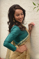 Tejaswi Madivada looks super cute in Saree at V care fund raising event COLORS ~  Exclusive 045.JPG