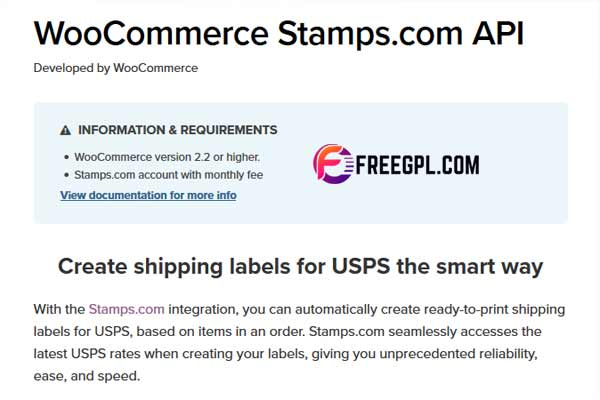 WooCommerce Stamps.com API WordPress Plugin Free Download