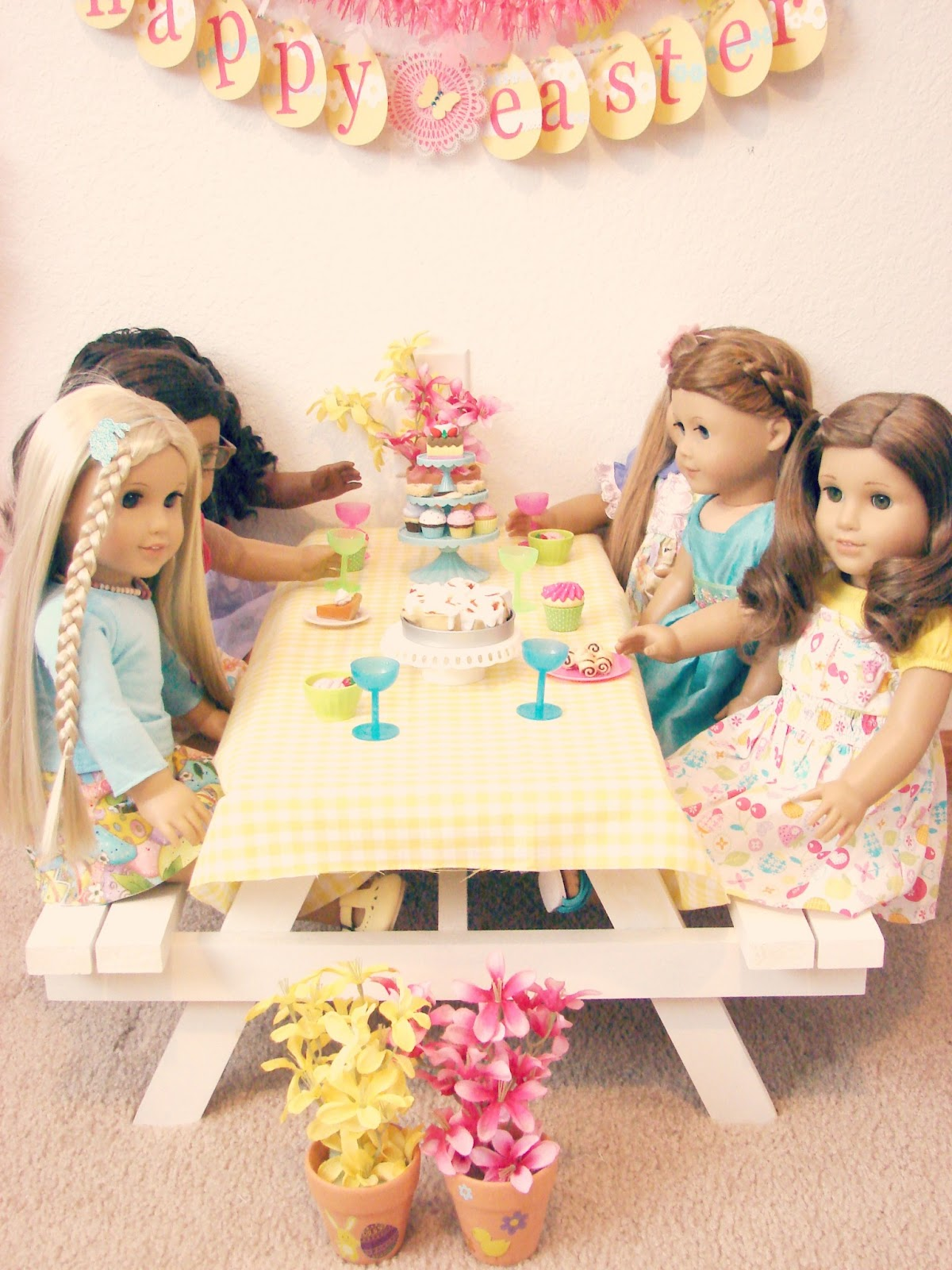 american girl doll play doll play easter brunch. Black Bedroom Furniture Sets. Home Design Ideas