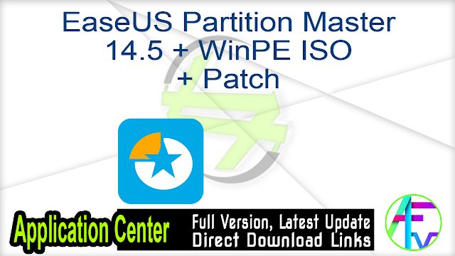 EaseUS Partition Master 14.5 + WinPE ISO + Patch