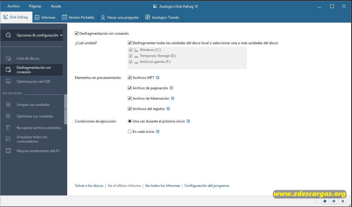 Auslogics Disk Defrag Full Español