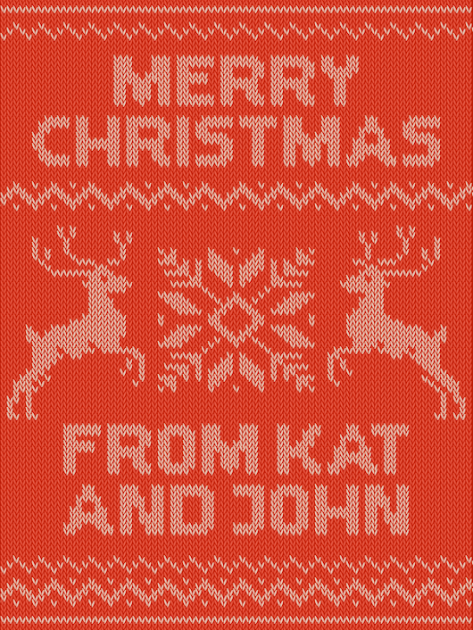 Knitted pattern Christmas card