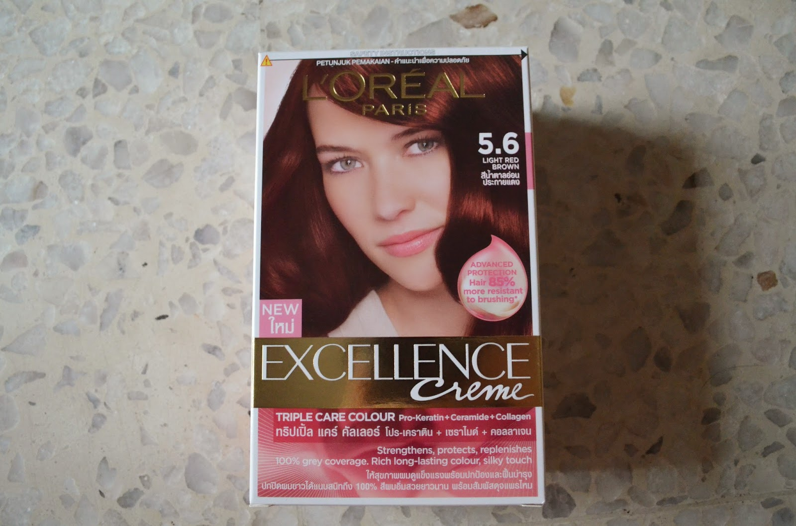 Rachel Lim L Oreal Excellence Creme 5 6 Light Red Brown On Black