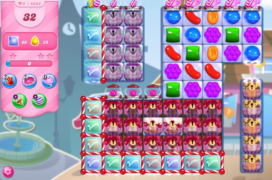 Candy Crush Saga level 4863