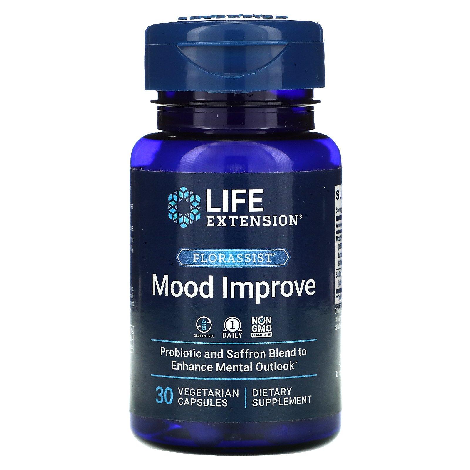 Life Extension, FLORASSIST, комплекс для улучшение настроения, 30 вегетарианских капсул