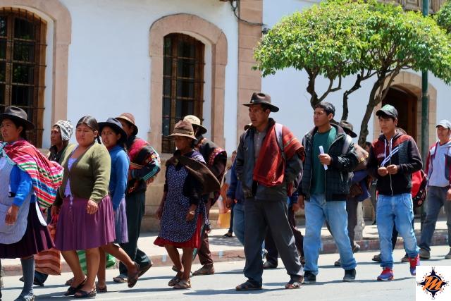 Sucre, protesta dinanzi la Casa de la Libertad