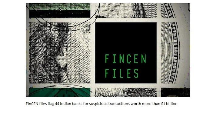 FinCEN Индиянын 44 банкын 1 миллиард доллардан ашык суммадагы шектүү транзакциялар үчүн желекчеге тапшырды