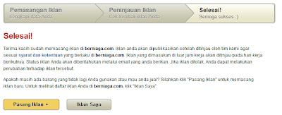 Cara Pasang Iklan dan Jual Barang di Berniaga.com