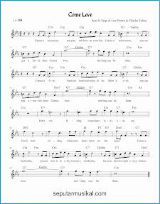 chord come love lagu jazz standar