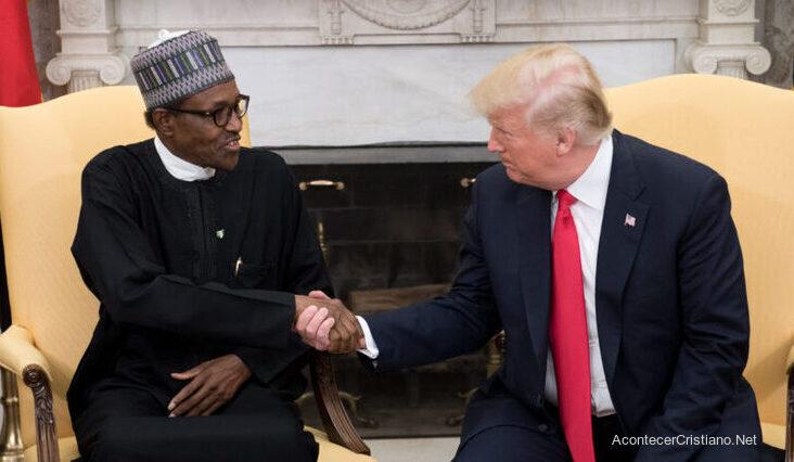 Presidente de Nigeria Buhari y Donald Trump