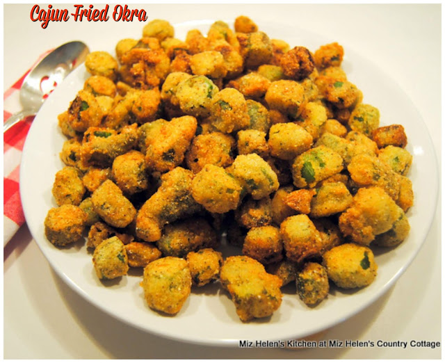 Cajun Fried Okra at Miz Helen's Country Cottage