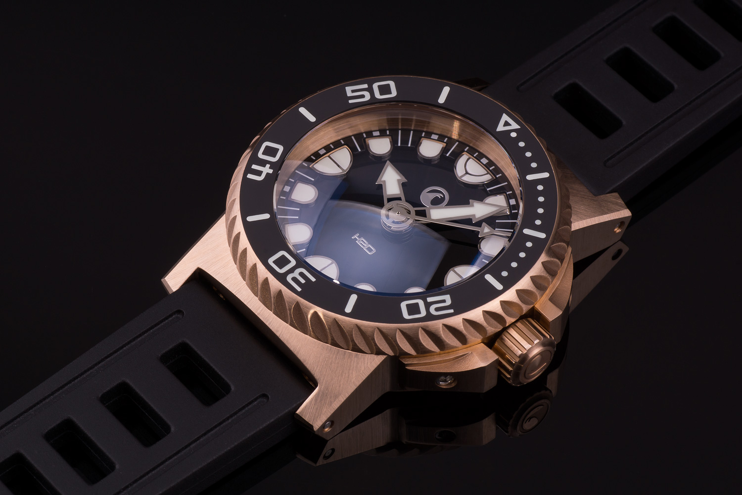 Oceanictime H2o Watches Orca Dive Bronze