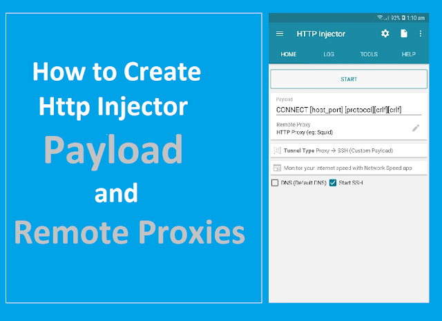 How to Create Http Injector  Payload and Remote Proxies 2019