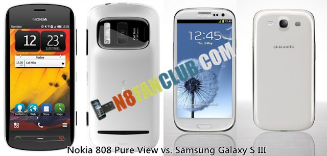 Nokia 808 Pure View vs. Samsung Galaxy S 3