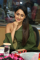 Pragya Jaiswal in a single Sleeves Off Shoulder Green Top Black Leggings promoting JJN Movie at Radio City 10.08.2017 031.JPG