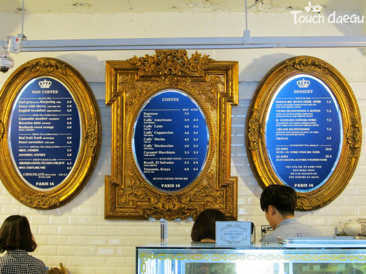 The gorgeous menu boards of the cafe