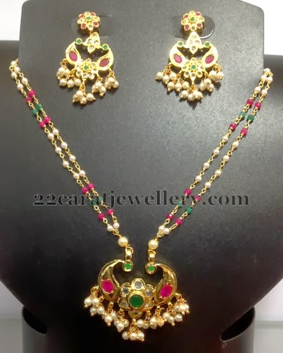 Imitation Simple Beads Set 2500inr Jewellery Designs