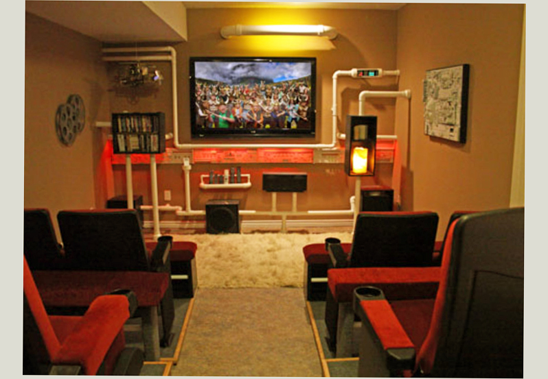 of final man cave for bioscop movie with basement man caves ideas