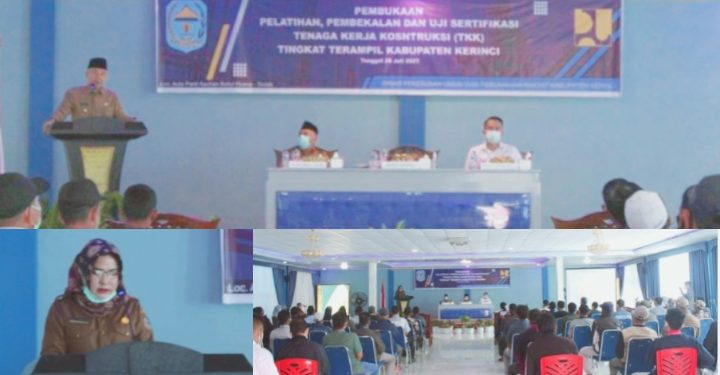 Bupati Adirozal Buka Pelatihan 300 TKK dan Tukang