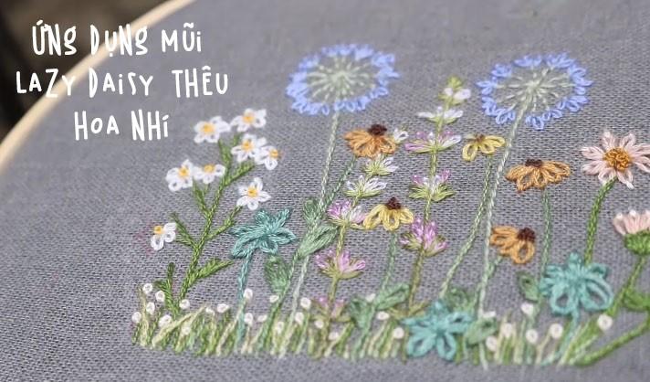 Mẫu thêu hoa nhỏ xinh