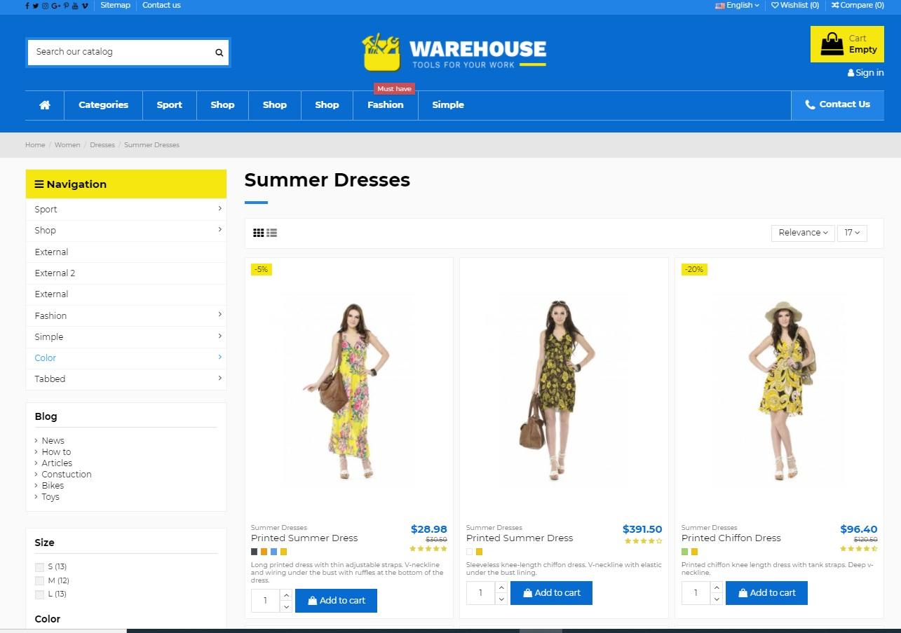 17. Warehouse Blogger Template
