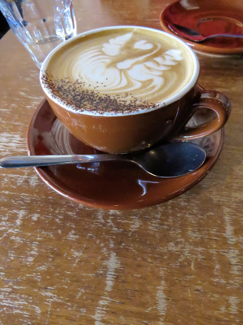 Coffee at Tolido Espresso Nook in Kampong Glam neighborhood of Singapore