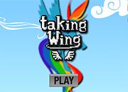 Rainbow Dash Taking Wings