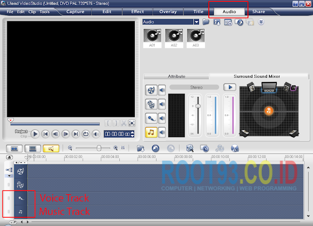 editing audio di ulead 1