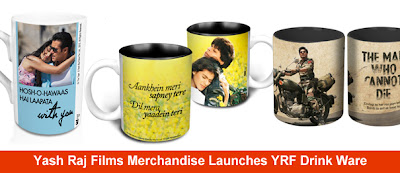 Yash Raj Films Merchandise Launches YRF Drink Ware Mugs Bollywood Jab tak hai jaan ek tha tiger