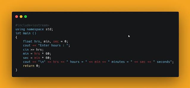 Contoh Program Konversi Waktu dari Jam, Menit dan Detik dengan C++