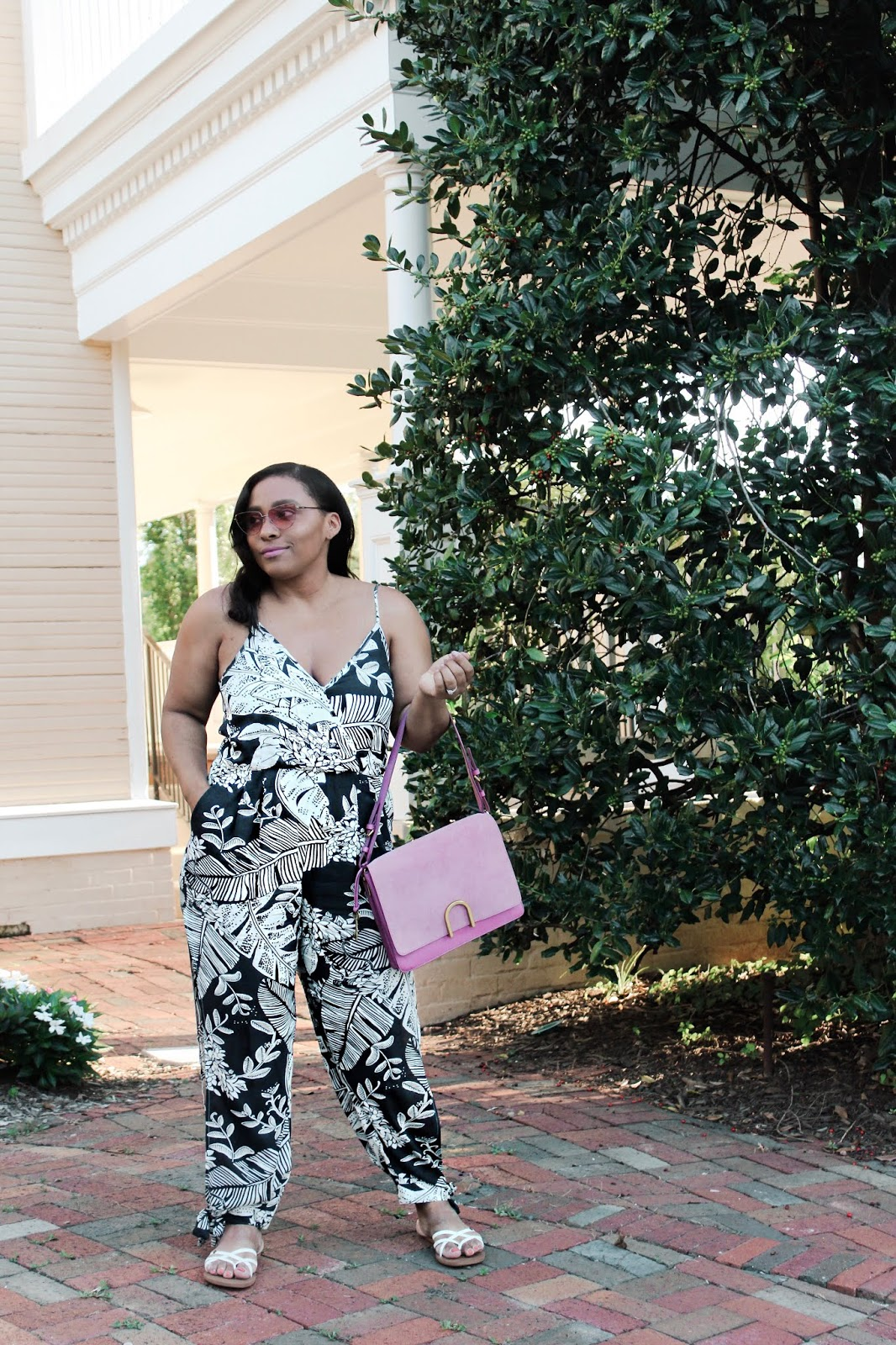 palm print, shein, shein clothes, jumpsuit, summer outfits