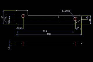 Lengkapi gambar 2D Bracket Sederhana PB-080 anda dengan ukuran-ukuran sesuai aturan gambar