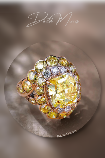 David Morris 5.19ct fancy yellow diamond Maelstrom cocktail ring #brilliantluxury
