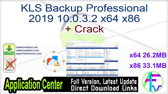 KLS Backup Professional 2019 10.0.3.2 x64 x86 + Crack