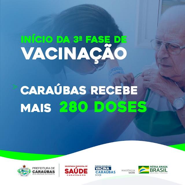 Prefeitura de Caraúbas recebe quinta remessa de vacinas contra Covid-19 para campanha de imunização