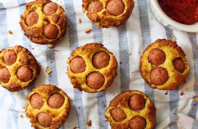 Paleo Corn Dog Muffins #paleo #breakfast