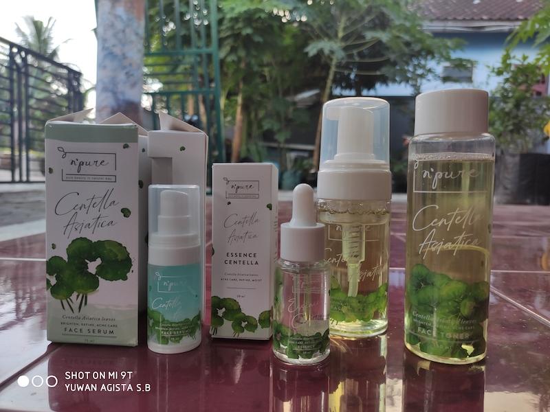 Review N'Pure Centella Asiatica (Cica Series), Skin Care dengan Daun Pegagan