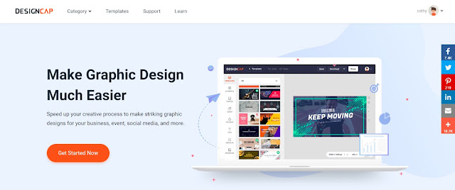 DesignCap helps you make graphic designs