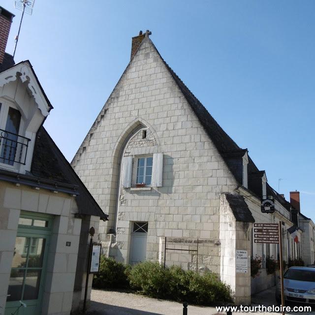 Medieval pilgrim hostel (now town hall), Sainte Catherine de Fierbois, Indre et Loire, France. Photo by Loire Valley Time Travel.
