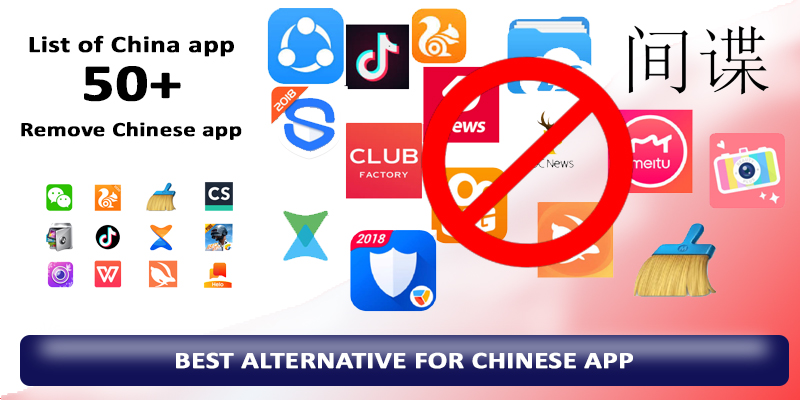 "Best alternatives for Chinese app | List of all Chinese app | Boycott chinese product | ""HINDI CHINI BYE BYE"""