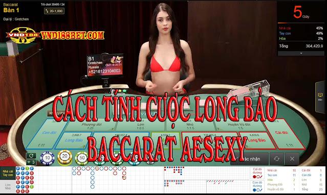 Cách  tính Cược Long Bảo Baccarat AESexy